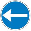 Påbudstavler - Påbudt Kørselsretning venstre