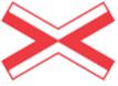 Krydsmaerke-for-enkeltsporet-jernbaneoverkoersel